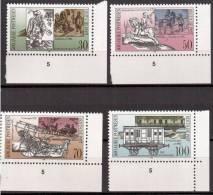 1990 Postal System, 500th Anniv Scott# 2841-2844  Michel#3354-7 Mint Never Hinged - Unused Stamps