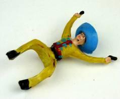 RARE - FIGURINE CYRNOS - CAVALIER MEXICAIN jaune TBE peinture d�origine chapeau coll�