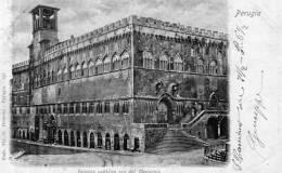 """Cartolina  D´epoca     """"   PERUGIA -  Palazzo Pubblico Ora  Del Municipio   """" - Perugia"""