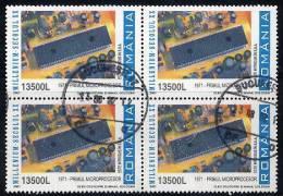 ROMANIA 2001 20th Century 13500L  Block Of 4 Postally Used.  Michel 5606 - 1948-.... Republics