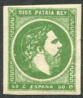 Edifil 160(*) 50 Cts Verde De 1875 En Nuevo - Carlists