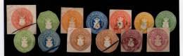 Stamps - Postal Stationery, Cutouts, Ganzsachenausschnitten, Mecklenburg-Schwerin - Altri