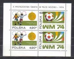 Poland Mi Bl 59 Soccer Championship Block 1974  MNH - 1974 – West-Duitsland