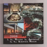 "Authentic-Original-Offici   Al     Triptych ""Akropolis Museum"" All 6 BU Coins 2008 Rare Plus EURO 10 Silver Coin !! - Grèce"