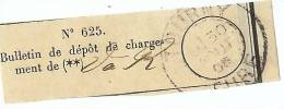 REF LPU11 - FRANCE - RECEPISSE DE DEPÔT OBLITERE A TOURNY 30/8/1905 - Feuilles Complètes