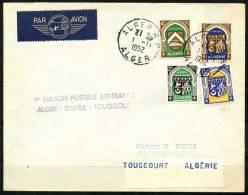 Algerie Lettre Pour Touggourt 1952 - Algeria (1924-1962)