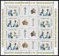 ROMANIA 2003 25th Anniversary Of Pontificate Of John PAul II Sheetlet MNH / **.  Michel 5772-73 Kb - Blocks & Sheetlets