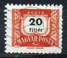 FHONGRIE T223° 20fi Rouge Et Noir (10% De La Cote + 0,15 €) - Postage Due