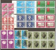 10 Blocs De Quatre De Suisse - Blocs & Feuillets