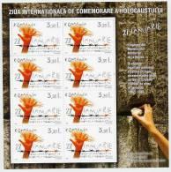 ROMANIA 2007 Holocaust Day Sheetlet MNH / **.   Michel 6162 Kb - Blocks & Sheetlets