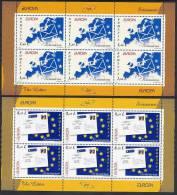 ROMANIA 2008 Europa: The Letter Sheetlets Of 6 Stamps MNH / **. Michel 6294-95Kb - Blocks & Sheetlets