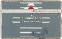 @+ Rare : Ancienne Telecarte De Saint-Eustache - 60 U - Série LG : 402B... - Antilles (Neérlandaises)