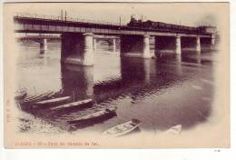 CLICHY - Pont De Chemin De Fer (un Train à Vapeur) - Clichy