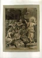 - RESURRECTION DE LAZARE . BURIN  DU XVIIe S. - Religion & Esotérisme