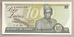 Zaire - Banconota Non Circolata Da 10 Zaires - 1985 - Zaire