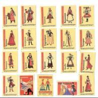 1965 USSR (Russia) 20 Matchbox Labels Folklore Costumes - Matchbox Labels