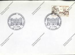 Enveloppe Cachet Cent Cinquentenaire St Thomas D'Aquin OULLINS 69 1986 Sur Timbre Curé D'Ars ST Jean Marie Vianney - Treni