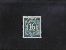 16P VERT-BLEU FONCé  N° 13 YVERT ET TELLIER  VARIéTé IMPRESSION VERSO NEUF ** 1946 - Zone AAS