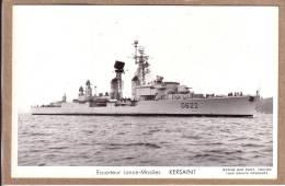 """BATEAUX - MARINE MILITAIRE  - CPSM - ESCORTEUR LANCE MISSILES """" KERSAINT """" - Photo MARIUS BAR - Warships"""