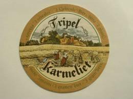 SOUS-BOCKS BIERE TRIPLE KARMELIET NEUF GOLD WBA 08 - Beer Mats