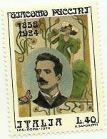 1974 - 1267 Giacomo Puccini - 6. 1946-.. Republik
