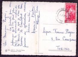 1954 Ialia, Cartolina Illustrata Spedita In Italia Con Valore Lire 35 Italia Al Lavoro - 6. 1946-.. Repubblica