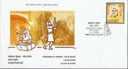 India 2003 Personalities – Allah Jilai Bai Folk Music Sc 2047 FDC Inde Indien - Musique