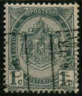 Belgium Coat Of Arms 1c 1893 Type , NAMUR 06 ,  Roller Precancel , No Gum - Precancels