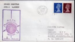 ★ GB - STS 1 - LAUNCH - LONDON (7086) - Cartas