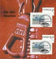"""Zwei Abarten  """"riri Auf Folder Mit Beschreibung KW 100 1138Ab1 Und 1138 Ab2 - Errors & Oddities"""