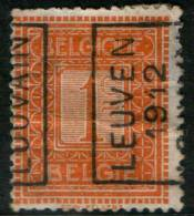 Belgium  1c 1912  Type , LEUVEN 1912 LOUVAIN,  Roller Precancel , No Gum - Precancels