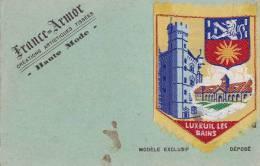 """¤¤  - LUXEUIL-les-BAINS  -  Carton Publicitaire De """" France-Armor """"  -  Ecusson Brodé Collé Sur Le Support    -  ¤¤ - Publicités"""