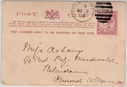 AUSTRALIA - VICTORIA - 1888 - CARTE POSTALE ENTIER - 1850-1912 Victoria