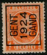 Belgium  King Albert I,1c 1922  Type , GENT 1924 GAND,  Roller Precancel , No Gum - Precancels