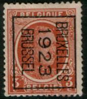 Belgium  King Albert I,3c 1922  Type , BRUXELLES 1923 BRUSSEL, Inverted Roller Precancel , No Gum - Precancels