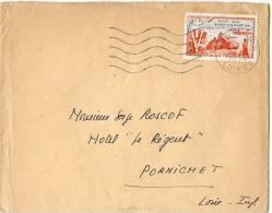 REF LPU11 - FRANCE - DEBARQUEMENT ALLIE EN AFRIQUE DU NORD SEUL SUR LAC 27/7/1954 - Poststempel (Briefe)