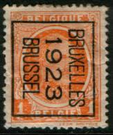 Belgium King Albert I, 1c 1922  Type , BRUXELLES 1923 BRUSSEL, Inverted Roller Precancel, No Gum - Precancels