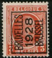 Belgium King Albert I, 3c 1922  Type , BRUXELLES 1928 BRUSSEL,  Roller Precancel, No Gum - Precancels