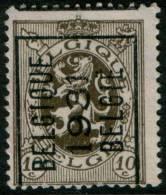 Belgium  Lion, 10c 1929  Type , BELGIQUE 1931 BELGIE Precancel , No Gum - Typo Precancels 1929-37 (Heraldic Lion)