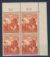 Deutsches Reich Michel No. 679 ** postfrisch Eckrand Viererblock