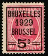 Belgium  King Albert I, 20c 1929  Type , Bruxelles 1929 Brussel  , No Gum - Precancels