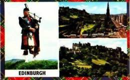 Pays De Galles        Edinburgh     3 Views  Princes Street And The Scott Monument. The Castel  . - Pays De Galles