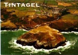 Pays De Galles        Tintagel. ( Panorama View )  . - Pays De Galles