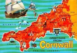 Pays De Galles         Divers. ( Contour Géographique ) Cornwall . - Pays De Galles