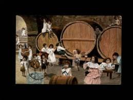 ENFANTS - BEBES MULTIPLES - Vin - Fut - Tonneau - Cave - Enfants