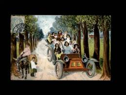 ENFANTS - BEBES MULTIPLES - Tacot - Automobile - Ane - Timbre Taxe - Enfants