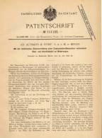 Original Patentschrift - Altmann & Comp. GmbH In Berlin , 1898 , Ausrückhebel An Motorwagen , Automobile !!! - Cars