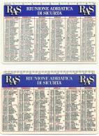Lotto  Di  N. 2  Calendarietti  SEMESTRINI  TASCABILI    -   R A S    -  Anni Progressivi  1991 / 1992. - Calendari