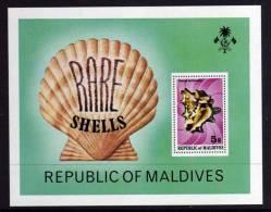 Maldives - 1979 - Rare Shells Mini Sheet - MNH - Maldives (1965-...)
