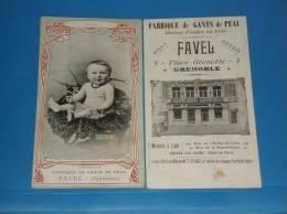 Carte Publicitaire GRENOBLE Fabrique De Gants De Peau Maison FAVEL Format 18 Par 10cm - Grenoble